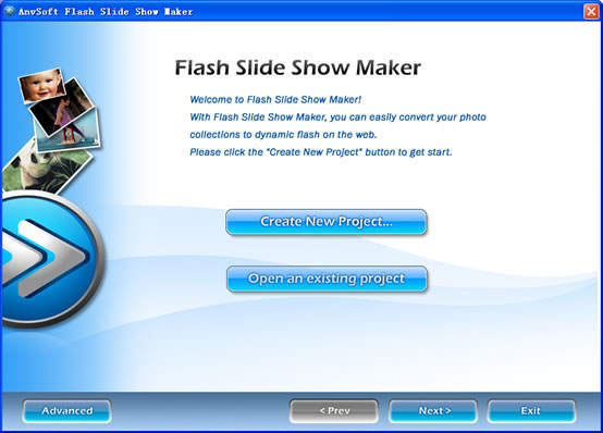 AnvSoft Flash Slide Show Maker - effect bitmap on flash