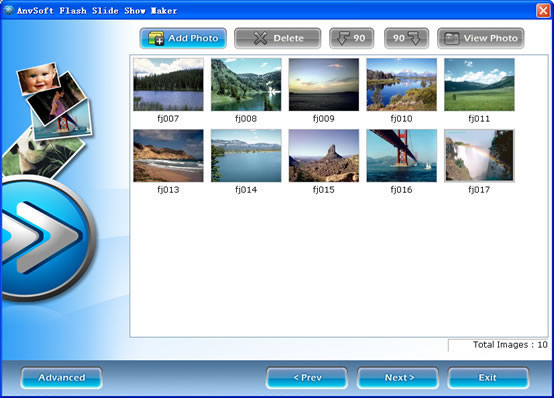 Flash Album Maker for website -  flash slide shows - myspace picture slideshow maker