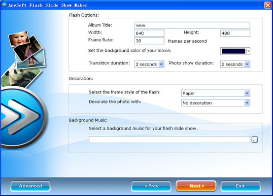 myspace flash music - flash album creator with slide show - flash slide shows